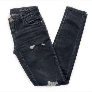 BlankNYC • Black Distressed Skinny Jeans